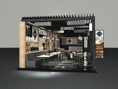 LA Studio   Year: 2011Rioba Coffee was expanding its services and was in need of outdoor coffee shops. They were to be located outside big malls and needed to be portable. At certain locations they needed to be attached to a secondary portable unit whic…