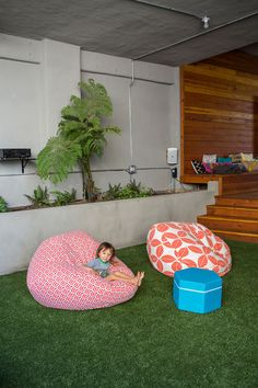 A Family Home with a Colorful Twist. indoor playroom. home decor and interior decorating ideas.