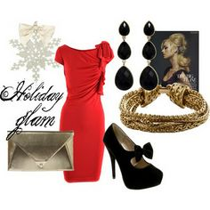 Holiday glam... if I had a fancy Christmas party to go to. =)