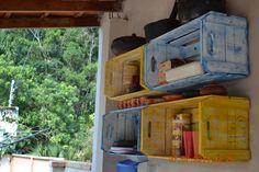 Reutilização de caixotes de feira - um guarda louça sustentável - Churrasqueira da casa da Praia