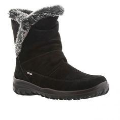 Foeret kort sort ruskind støvle med Gabor tex membran og plyskant.Støvlen har udtagelig sål, vidde G Skaftelængde 18 cm Kile 2 cm.