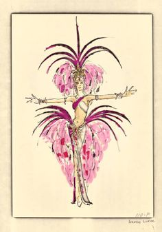 "Bob Mackie Vegas showgirl costume design, 1974. Part of the UNLV Libraries ""Showgirls"" digital collection."
