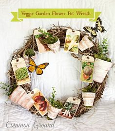 Common Ground: Veggie Garden Flower Pot Wreath