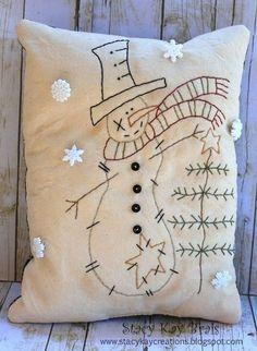 Christmas primitive pillows - Google Search
