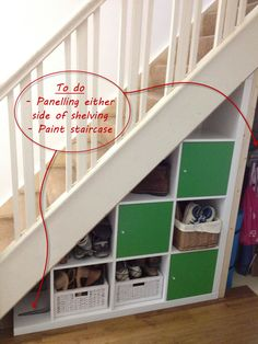 I like this idea a lot! And it should be fairly easy to achieve considering how the Expedits are built. The only problem I see at the moment is the fact that our stairs are not at a nice and convenient 45 degree angle.