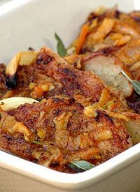 Sticky Pork Chops with Pears and Marmalade  - Ina paarman