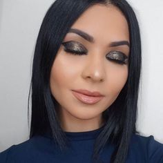 The beautiful @dianachantel wearing MIDNIGHT (from my #WhereTheNightIs quad) all over her lid & Aquarius on her lips *Available December 26.  Thank you my friend!'