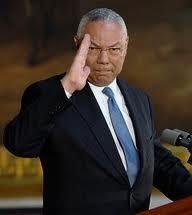 "Colin Powell...""officer and a gentleman""...statesman, American hero."