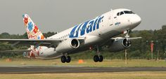 Smartly painted UTAir Sukoi Superjet
