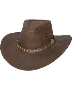 Bullhide Timber Mountain Top Grain Leather Hat Sombreros Hombre 4268d188622
