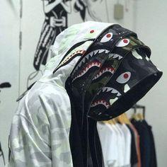 bAPE shark hoodies Rare Fashion, Urban Fashion, Bape Outfits, Fashion Outfits, Fashion Trends, Bape Shark Wallpaper, Streetwear Wallpaper, Bape Ape, Bape Jacket