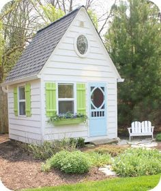 I always wanted an excellent playhouse when I was a kid.  I would spend hours drawing up the plans for the house I wanted my dad to build.
