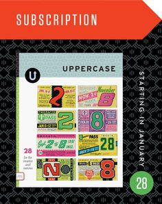 UPPERCASE magazine: centered on inspiration for graphic designers