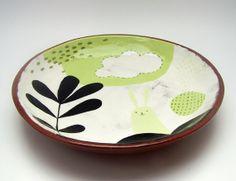 Ceramic Bowl Terracotta Bowl Pottery Bowl by susansimonini, $55.00