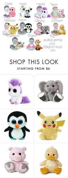 """The stuffed animal your Magcon buys for you"" by gmnarayan ❤ liked on Polyvore"