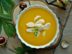 Bardzo smaczna zupa z dyni hokkaido. Jest idealnie kremowa, co w głównej mierze przyczynił się do tego serek mascarpone. Ciekawym dodatkiem są serowe kluseczki, które urozmaicają zupę dyniowa. ZUP…