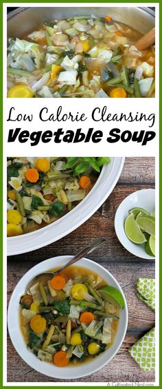 Want to lose weight or be healthier this year? Then you've got to make yourself a bowl of this low calorie cleansing vegetable soup!