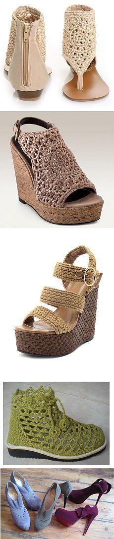 Вязаная обувь (фото).
