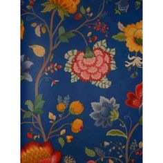 Pip Studio Vlies-Tapete 341034 Floral blau Vintage