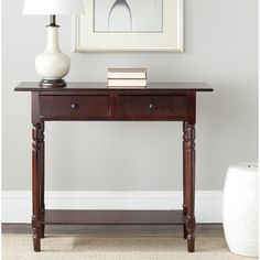 Safavieh Cape Cod Dark Cherry 2-drawer Console Table | Overstock.com Shopping - Great Deals on Safavieh Coffee, Sofa & End Tables