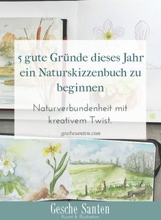 Skizzenbuch Natur- Pflanzen und Tiere malen und zeichnen