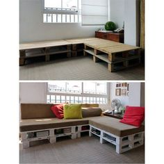 More pallets...cool idea for kids play room