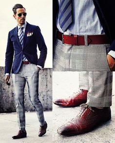 Switch up your classic menswear favorites by adding some patterns to your outfit!
