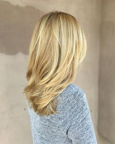 Medium-Length Beige-Blonde Straight Hair with Layers