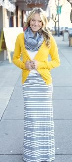 Loving the mustard and gray