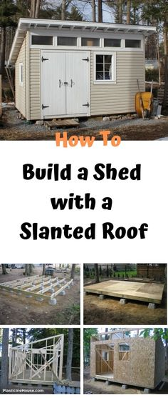 Learn How To Build a Shed with a Slanted Roof with this Step-by-Step Guide shed design shed diy shed ideas shed organization shed plans Shed Building Plans, Diy Shed Plans, Storage Shed Plans, Building Ideas, Shed Design Plans, Lean To Shed Plans, Build A Building, Building A Workshop, Small Shed Plans