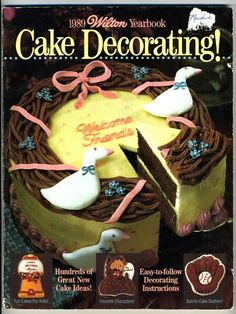 Wilton Cake Decorating Yearbook 1989 Goose Wreath Cake, Cookbook, How To Book