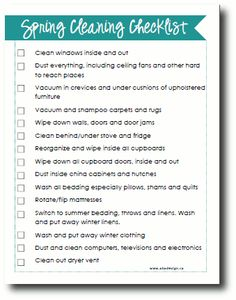 Spring cleaning checklist + tips