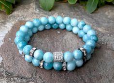 Larimar Men's Swarovski Crystals Bracelet Set by Braceletshomme