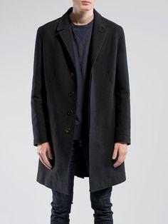 Leon Coat Deep Twill Black - Nudie Jeans Online Shop