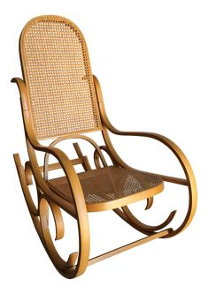 Vintage Luigi Crassevig Bentwood Rocking Chair In The Style of Michael Thonet on Chairish.com