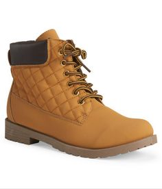 Blue Suede Shoes Quilted Utility Boot, $30, aeropostale.com   - Seventeen.com
