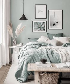 Gallery Wall Inspiration - Shop your Gallery Wall Bedroom Green, Room Ideas Bedroom, Home Decor Bedroom, Bedroom Wall, Living Room Decor, Bedroom Furniture, Marble Bedroom, Bedroom Signs, Living Room Paint