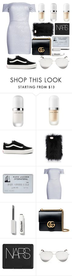 """Untitled #115"" by georgialanexo ❤ liked on Polyvore featuring Marc Jacobs, Vans, WithChic, Gucci, NARS Cosmetics and Victoria Beckham"