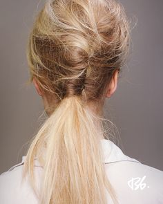 Back-combed french twist into a pony, from Fall/Winter Fashion Week '12
