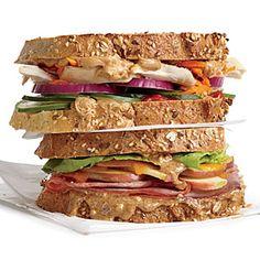 Apple, Almond, and Cheddar Sandwich Recipe | MyRecipes.com #myplate