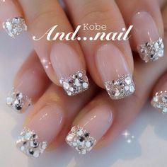 Effect manicures - kari Sexy Nails, Glam Nails, Bling Nails, Love Nails, Beauty Nails, Glitter Nails, How To Do Nails, Pretty Nails, Bridal Nails