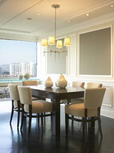 Fixtures dining room lighting modern room lighting hanging lights for Lights Over Dining Table, Dining Room Lamps, Casual Dining Rooms, Dining Room Furniture, Dark Table, Dining Chair, Contemporary Dining Room Lighting, Contemporary Style, Esstisch Design