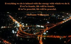 Williamson quote: Everything we do…