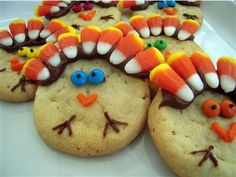Turkey Cookies ~ a recipe easy enough for the kids to make!    For the recipe, click here http://www... pinned with Pinvolve
