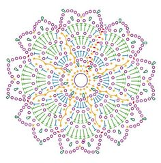 On this page you will find 6 beautiful crochet patterns. You can save and print them. Have a look and choose the fallen crochet patterns. Motif Mandala Crochet, Crochet Motifs, Crochet Blocks, Crochet Stitches Patterns, Crochet Diagram, Doily Patterns, Crochet Chart, Crochet Squares, Thread Crochet