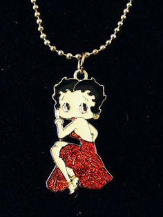 Sparkles  Ohh LaLa Betty Boop Charm necklace    Jewelry & Watches, Fashion Jewelry, Necklaces & Pendants   eBay!