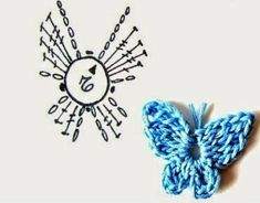 Excellent Free Crochet Flowers rose Strategies If you realise the way to crochet your flower, then you can certainly help to make many projects. Crochet Bows Free Pattern, Crochet Butterfly Pattern, Crochet Chart, Love Crochet, Crochet Motif, Crochet Flowers, Crochet Stitches, Diy Crafts Crochet, Crochet Projects