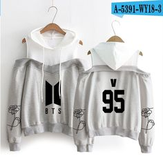 BTS exclusive hand sleeves flower personality pattern printing women's hip hop casual hood long-sleeved off-shoulder SIZE S-XL Bts Hoodie, Hoodie Dress, Bts Clothing, Bts Girl, Cartoon Outfits, Clothes 2018, Kawaii Clothes, Hooded Sweatshirts, Gym Hoodies