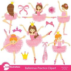 Check out Ballerina, ballet dancer clipart 232 by AMBillustrations on Creative Market Ballerina Dancing, Little Ballerina, Ballet Dancers, Ballet Class, Ballerina Nursery, Dance Class, Dancing Clipart, Ballerina Silhouette, Image Paper