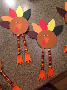 Thanksgiving turkey craft with candy legs